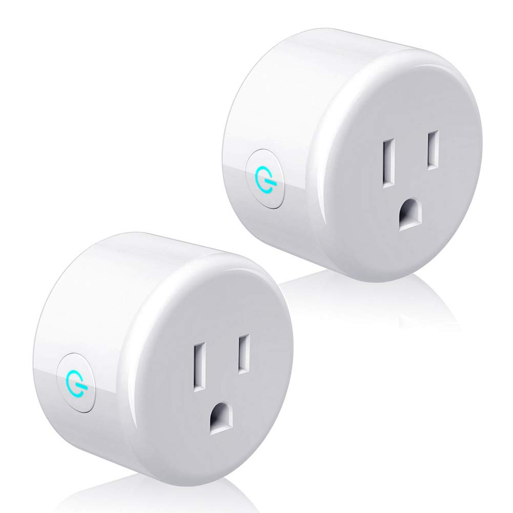 Smart Plug, Lightstory Mini Wi-Fi Socket Outlet Works with Alexa Echo/dot Compatible with Google Home Assistant IFTTT, Remote Control Your Devices from Anywhere, No Hub Required, 2 Pack