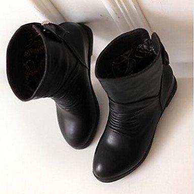 GLL Bottes à Marron 5 Hiver 7 à cm Blanc Automne Femme Noir Décontracté Mode black la Polyuréthane amp;xuezi Bottes rFErqwC
