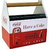 Smart Living Company The Tin Box Company 772387-12 Coca Cola Large Galvanized Utensil Holder