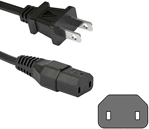 HQRP AC Power Cord fits Samsung LN-S2341W LN-S2351W LN-S2352W LN-S2352WX LN-S2641D LN-S2651D HDTV TV LCD LED Plasma DLP Mains Cable
