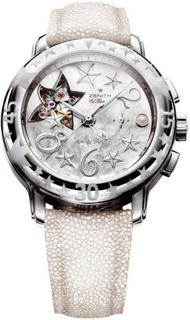 New Zenith Baby Doll Star Sea Open El Primero Ladies Watch 03.1233.4021/85.C632