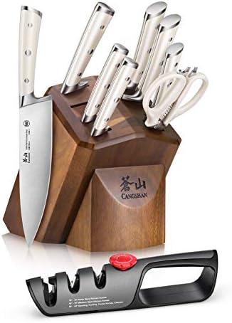 Cangshan H1 Series 1026153 German Steel Forged 10-Piece Knife Block Set