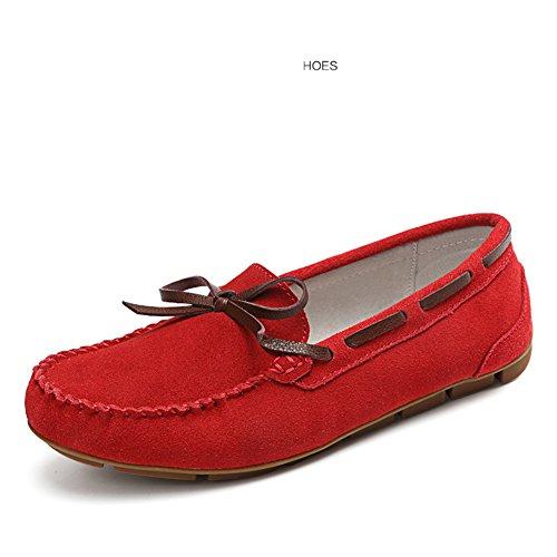 Coréenne Mocassin la C Décolletée Shoes Version femmes Cuir Femmes Enceintes De Flat chaussures Chaussures femmes Pour gommino Printemps En hQdCstr