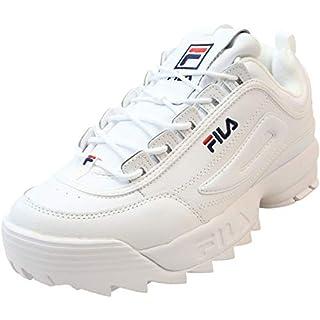 Fila Men's Disruptor II Premium Trainers, White Multi, 12 Medium US
