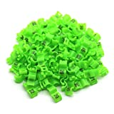 FidgetGear 2.7/3/4/4.5/5 mm Birds Leg Clips Pigeon Rings Bands with Number 1-100 Plastic Green 4.5 mm