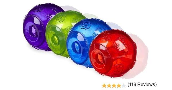 Kong Squeezz Juguetes para mascotas, pelotas para lanzar ...