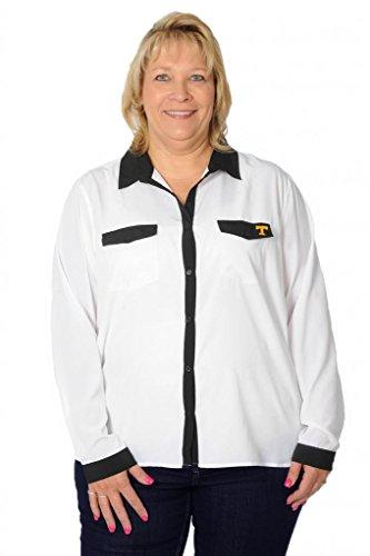 UG Apparel Women's Tennessee Volunteers Plus Size Blouse 2X orange/White