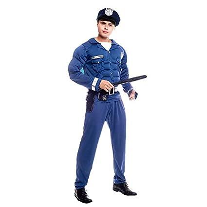 Disfraz Policía Musculoso Hombre (Talla S) (+ Tallas ...