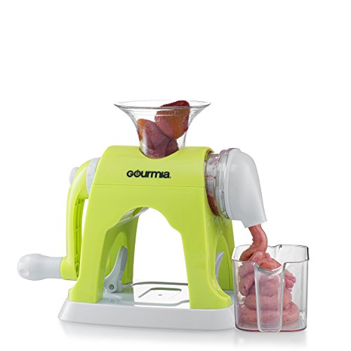 Best Price Gourmia GIC9610 Ice Cream Maker Whips Up Frozen Fruit Desserts With Easy Hand Crank & Bow...