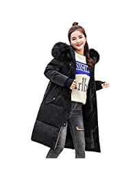 kingf Women Water/Stain Resistant Anorak Winter Long Quilted Coat with Fur Hood