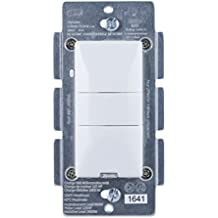GE Z-Wave Plus Wireless Smart Lighting Control Motion Dimmer, In-Wall, Occupancy Vacancy Sensor, Includes White & Light Almond Buttons, Works with Amazon Alexa (Hub Required), 26933