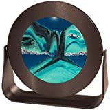 Sand Pictures - Small Round Black Frame (Deep Sea Ocean Blue) AMERICAN MADE QUALITY by Exotic Sands. FAST SHIPPING! Great Fathers Day Gift!