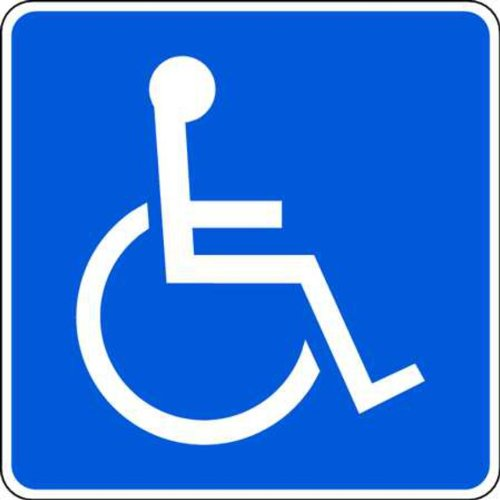 (ZING 2217 Eco Parking Sign, Handicapped Symbol, 12Hx12W, Engineer Grade Prismatic, Recycled Aluminum)