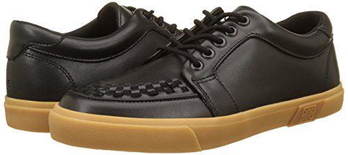 Basses k Leather Adulte gum Baskets Vlk Mixte Noir Leather T Sneaker u black Creeper Black Z5zwxwpq6