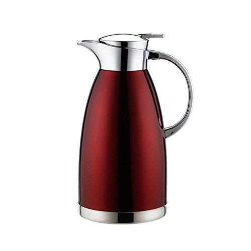 MEGOOD 1.8L/61 oz Stainless Steel Thermal Coffee Carafe,Double Walled Vacuum Insulated Drink Dispenser Coffee Milk Water Pitcher (Red) ()