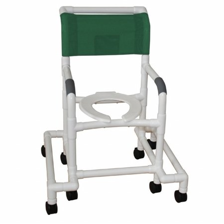 Standard Deluxe Shower Chair with Anti Tip Outriggers Color: Royal -