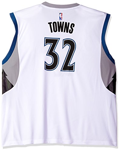 fan products of NBA Men's Minnesota Timberwolves Karl-Anthony Towns Replica Player Home Jersey, X-Large, White