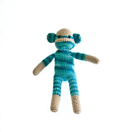 [The Monkey Project Handmade Blue Sock Monkey Doll] (Sock Puppet Costume Monkey)