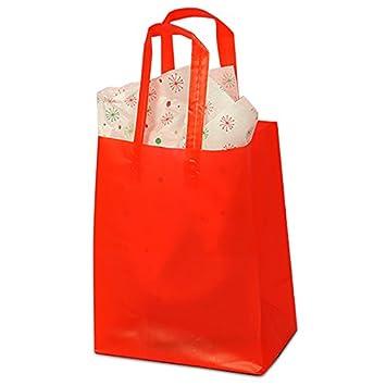 Amazon.com: HDPE bolsas de mango rojo Frost de colores ...