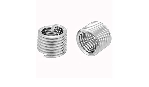 50pcs Stainless Steel Coiled Wire Helical Screw Thread Inserts Helical Thread Inserts Kit M2.5 x 2D Used for Parts That Requires Frequent Removing