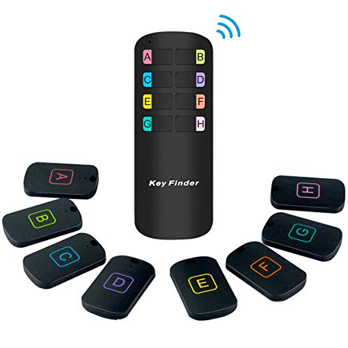 Key finder, Wireless GPS Pet Tracker RF Item Locator Remote Control ,1 RF Transmitter and 8 Receivers - Wallet Tracker for Parents or aged forgetful remind