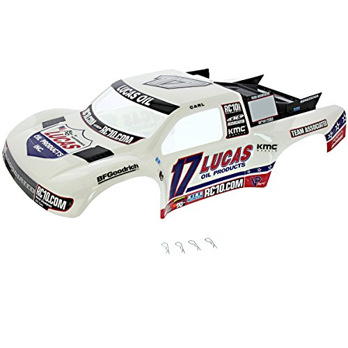AE Team Associated 1/10 SC10 RS 2WD SC10.3 LUCAS OIL WHITE BODY & CLIPS #17
