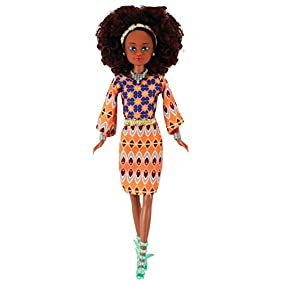 Queens of Africa Black Doll - WURAOLA (Curly/Natural Hair)