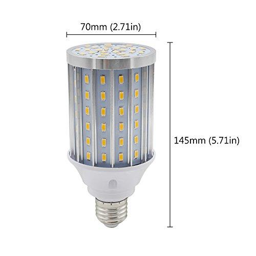 Mininono High Power LED Bulb 25W Aluminum High Power Corn Light Bulb, 108LEDs 200W Halogen Bulbs Replacement, Warm White 3000K Medium Edison E26/E27 Base Super Bright LED Lamp by Mininono (Image #7)