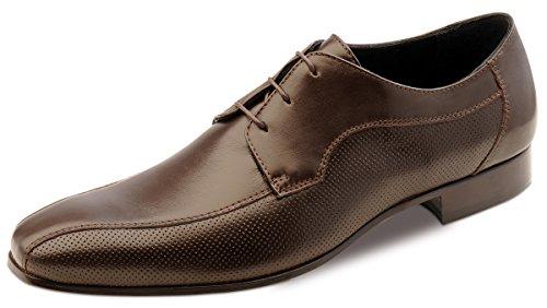 Wilvorst - zapatos con cordones de cuero hombre marrón - marrón