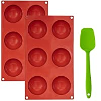 2 Pack 6-Cavity Large Hot Chocolate Bomb Mold - Silicone Sphere Mold For Cocoa Bombs, Cakes, & Jelly