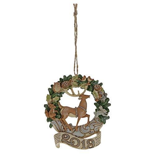 Enesco Jim Shore Heartwood Creek Woodland 2019 Deer/Wreath Ornament (White Christmas Ornaments Deer)