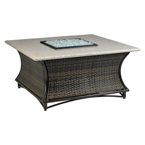 Santa Cruz Outdoor Gas Square Fire Pit with 48