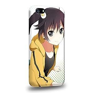Case88 Premium Designs Monogatari Karen Araragi Tsukihi Araragi 1702 Carcasa/Funda dura para el Apple iPhone 5C