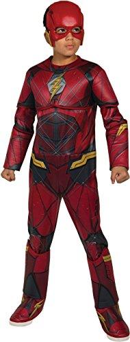 Rubie's Costume Boys Justice League Deluxe Flash Costume, Large, Multicolor -