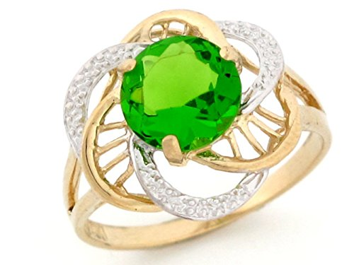 Jewelry Liquidation 10k Gold Synthetic Birthstone Ring