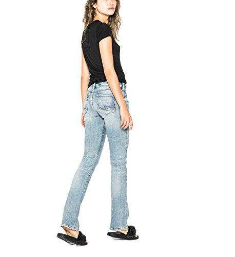 Silver Jeans Women's Suki Curvy Fit Mid Rise Slim Bootcut Jeans, Light Indigo Fluid, 31x31