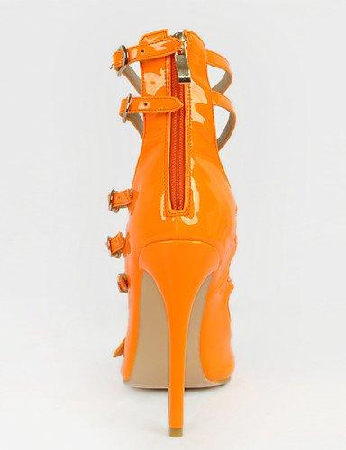 eventi da a punta Cn36 Pelle Sera Scarpe Eu36 Tacchi Ggx a i Tacco arancio verniciata arancione us6 spillo donna Scarpe ed tacchi Uk4 con FqX5w