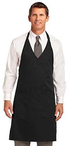 Port Authority Easy Care Tuxedo Apron with Stain Release, Black, OSFA ()