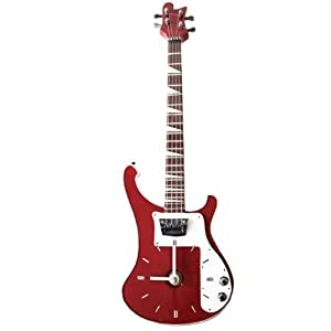 My Music Gifts Bass Guitar Wall Clock Red Amazoncouk Kitchen