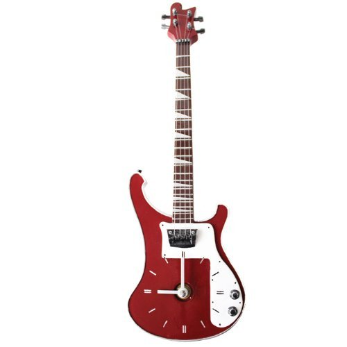 My Music Gifts Bass Guitar Wall Clock, Red by My Music Gifts