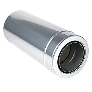 Chimenea, Tubo de 500mm deseada, acero inoxidable, 80mm de diámetro (140mm)