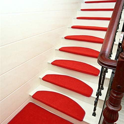 Ganjuan - Juego de 15 Alfombrillas Antideslizantes para Escalera, 65 x 24 cm, para escaleras de 25 cm de Ancho: Amazon.es: Hogar