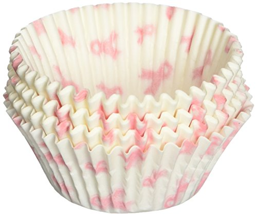 Oasis Supply Breast Cancer Awareness Baking Cups, Standard, 50-Count -
