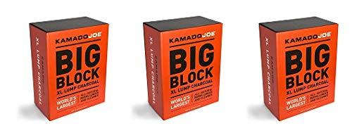KamadoJoe KJCHAR KJ-CHARBOX Hardwood Extra Large Lump Charcoal, 1-(Pack) (3-(Pack))