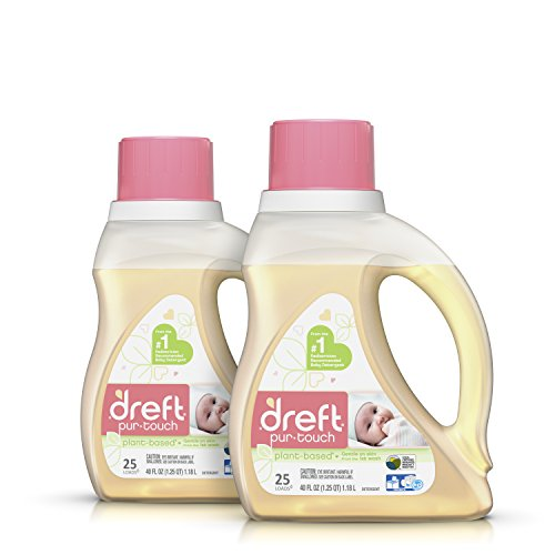 Dreft purtouch Baby Liquid HE Laundry Detergent, Hypoallergenic and Plant-based, 80 oz (2 pack, 40 oz each)