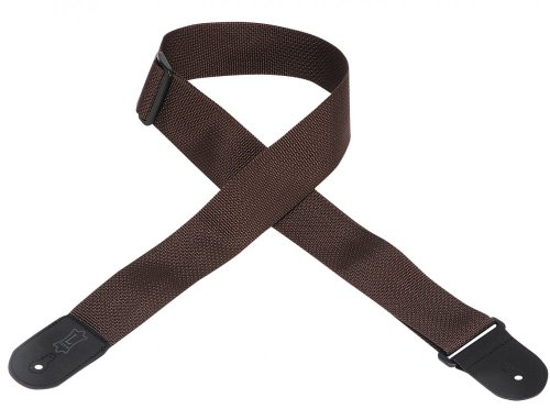 "Levy's Leathers M8POLY-BRN 2"" polypropylene guitar strap wit"