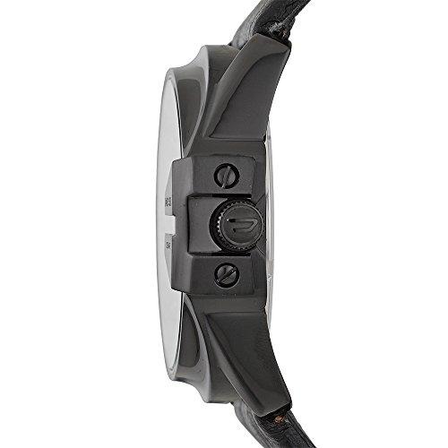 Diesel Men's DZ1657 Master Chief Black Ip Leather Watch