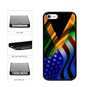Generic Jamaica and USA Mixed Flag Plastic Phone Case Back Cover for iPhone 4/4s
