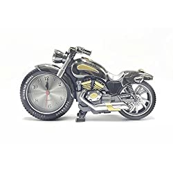 YMANX Black gold motorcycle alarm clock ticking
