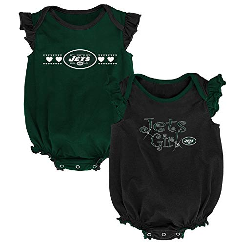 Outerstuff NFL NFL New York Jets Newborn & Infant Homecoming Bodysuit Combo Pack Hunter Green, 6-9 Months